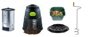 Composting bins on sale on 13th October