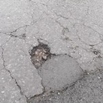 Lerecroft Road pothole