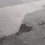 West Thorpe pothole