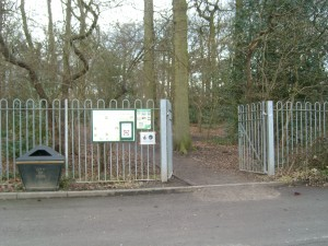 Entrance to Acomb Wood footpath