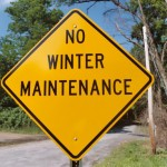 No winter maintenance