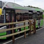 Electric bus at Poppleton Bar