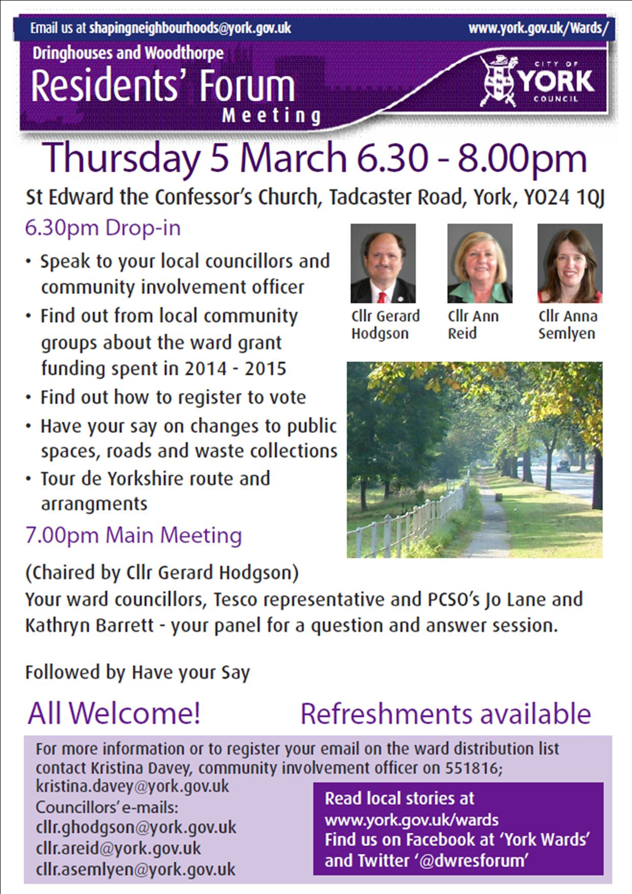 Ward committee poster March 2015
