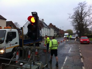Tadcaster Road road works 20th April 2015