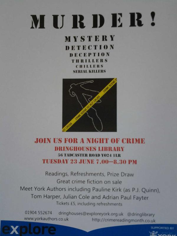 Crime evening poster 23rd June 2015