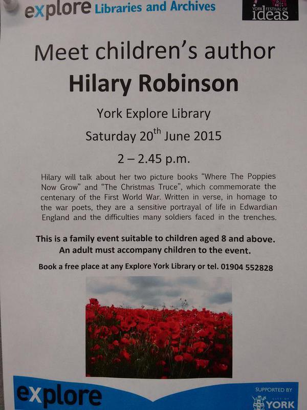 Hilary Robinson York Explore 20th June 2015