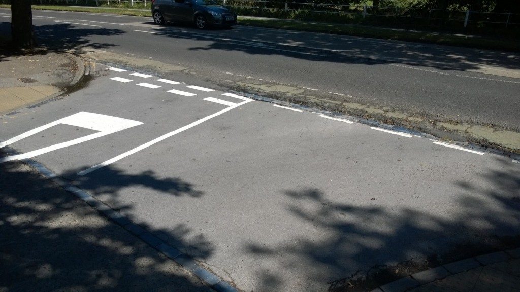 Ashley's intervention has led to road markings being repainted