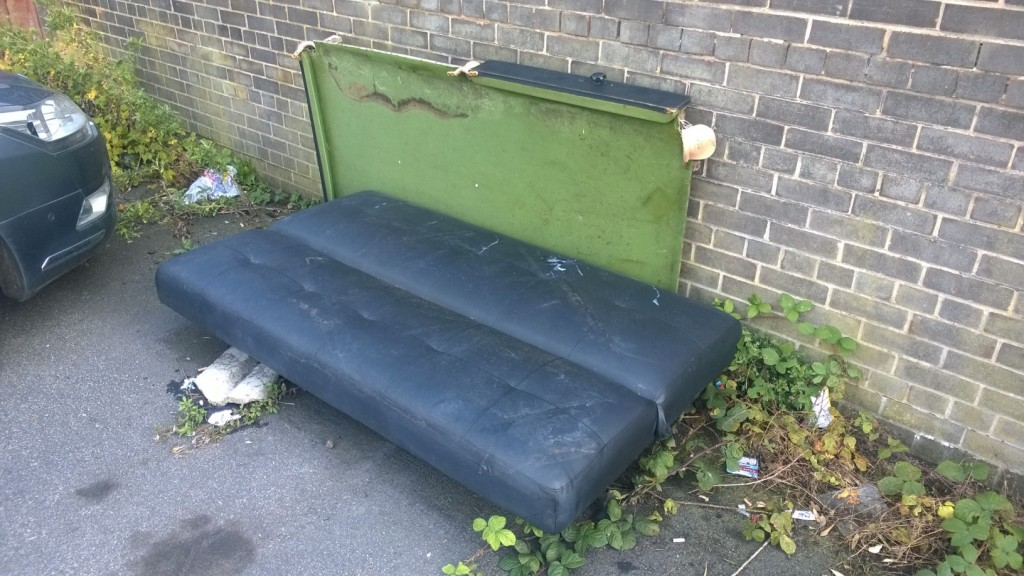 What appears to be a pool table and a settee