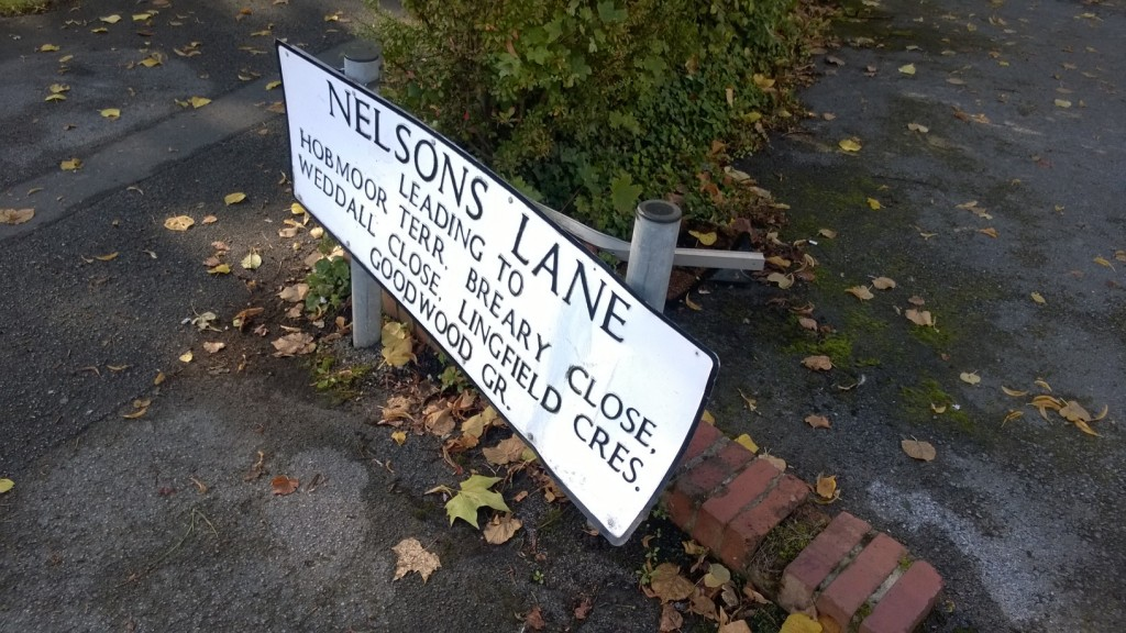 Before - the old sign