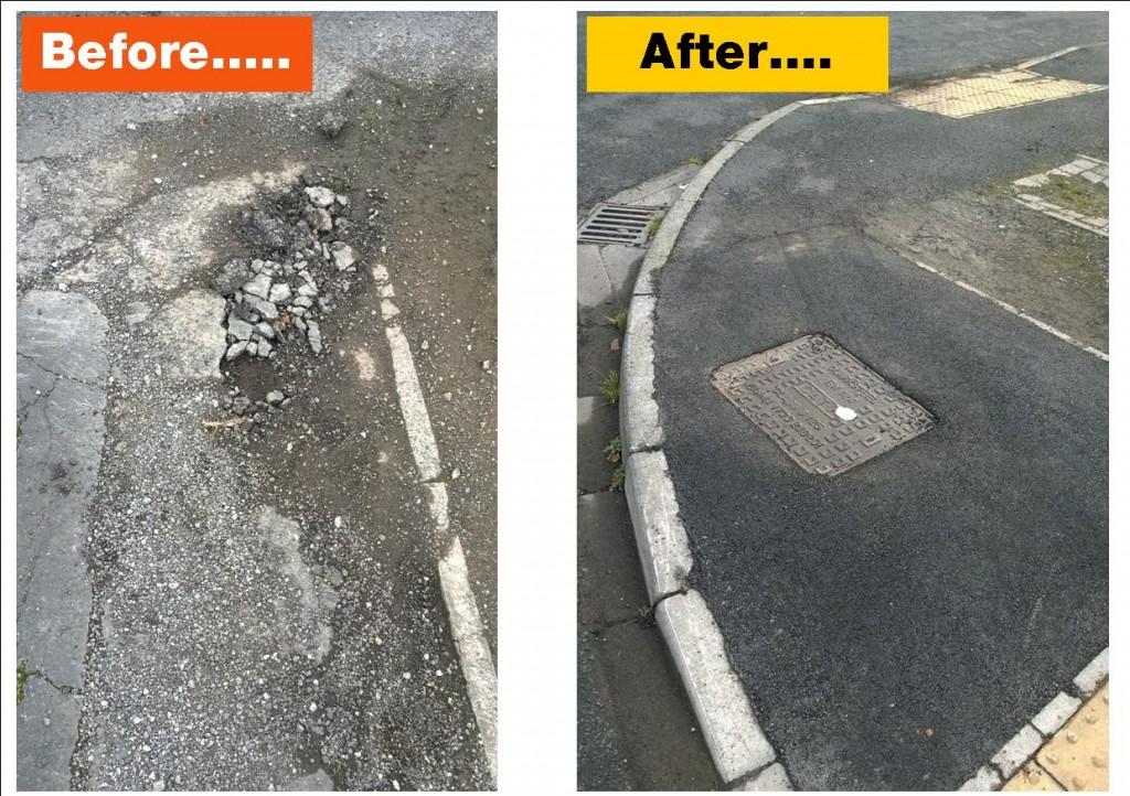 Silverdale Court footpath repairs