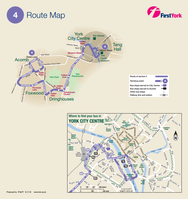 New route of the number 4 bus