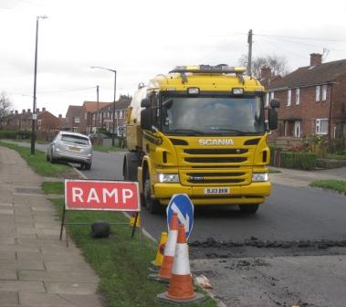 Large patching work on Thanet Road