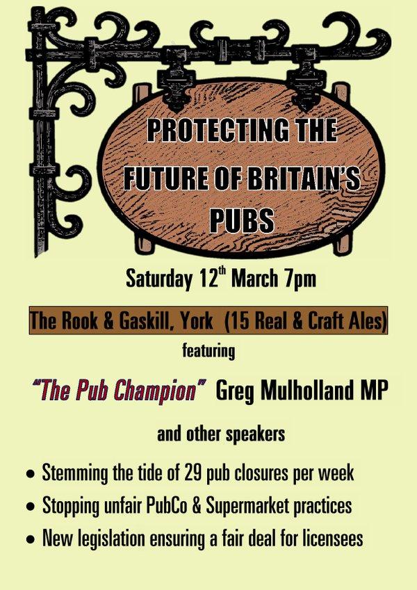Pub event poster