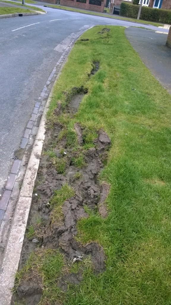 Wains Road verge damage
