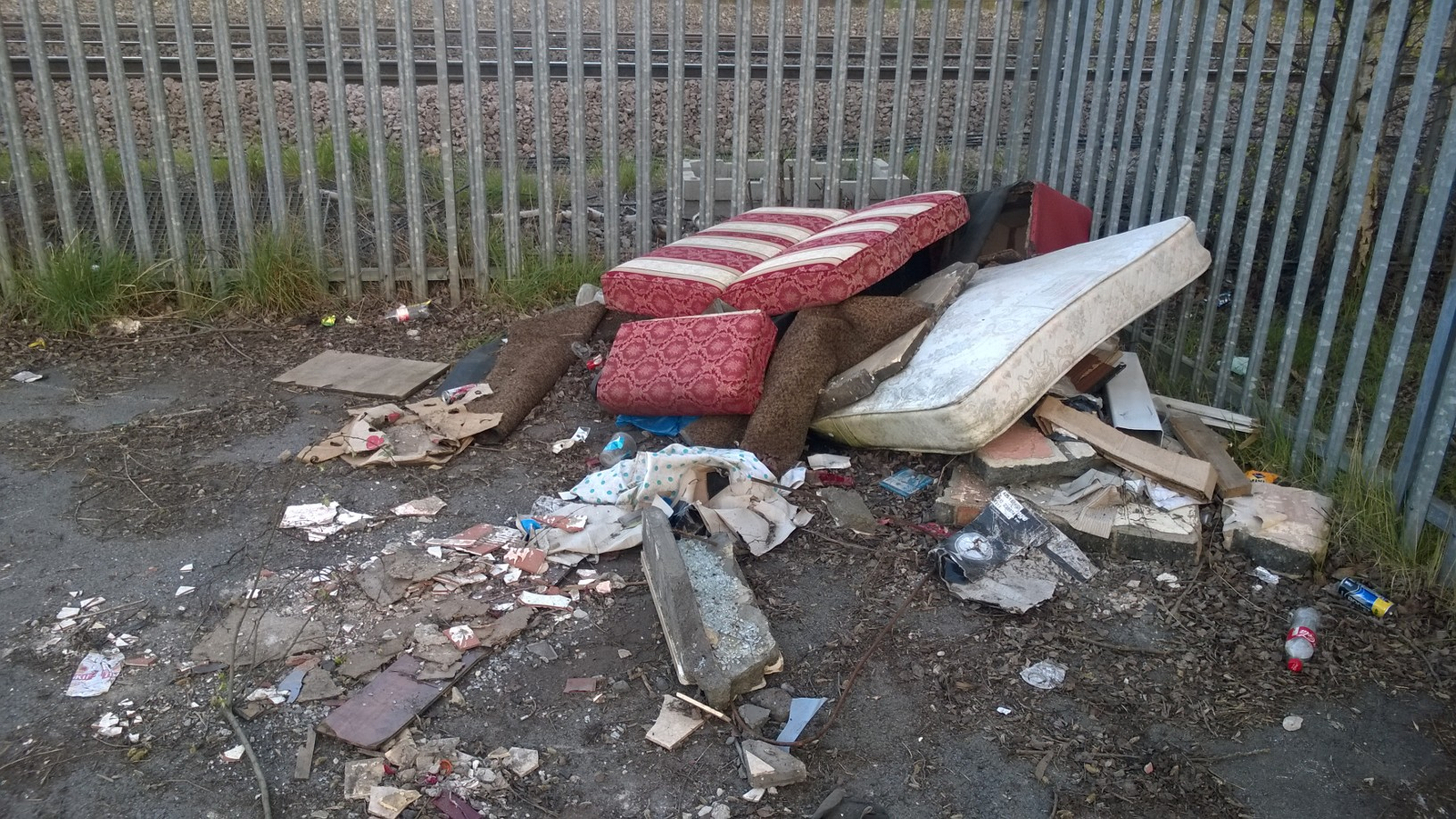 Flytipping by the railway line