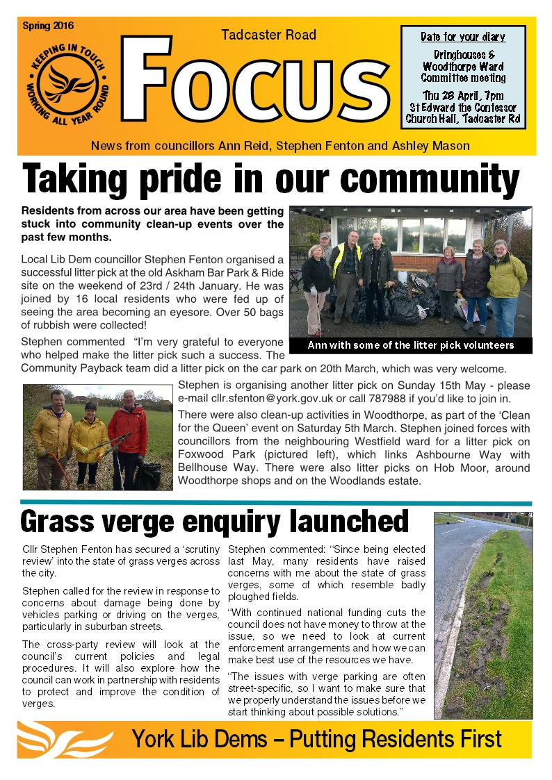 Tadcaster Road Focus page 1