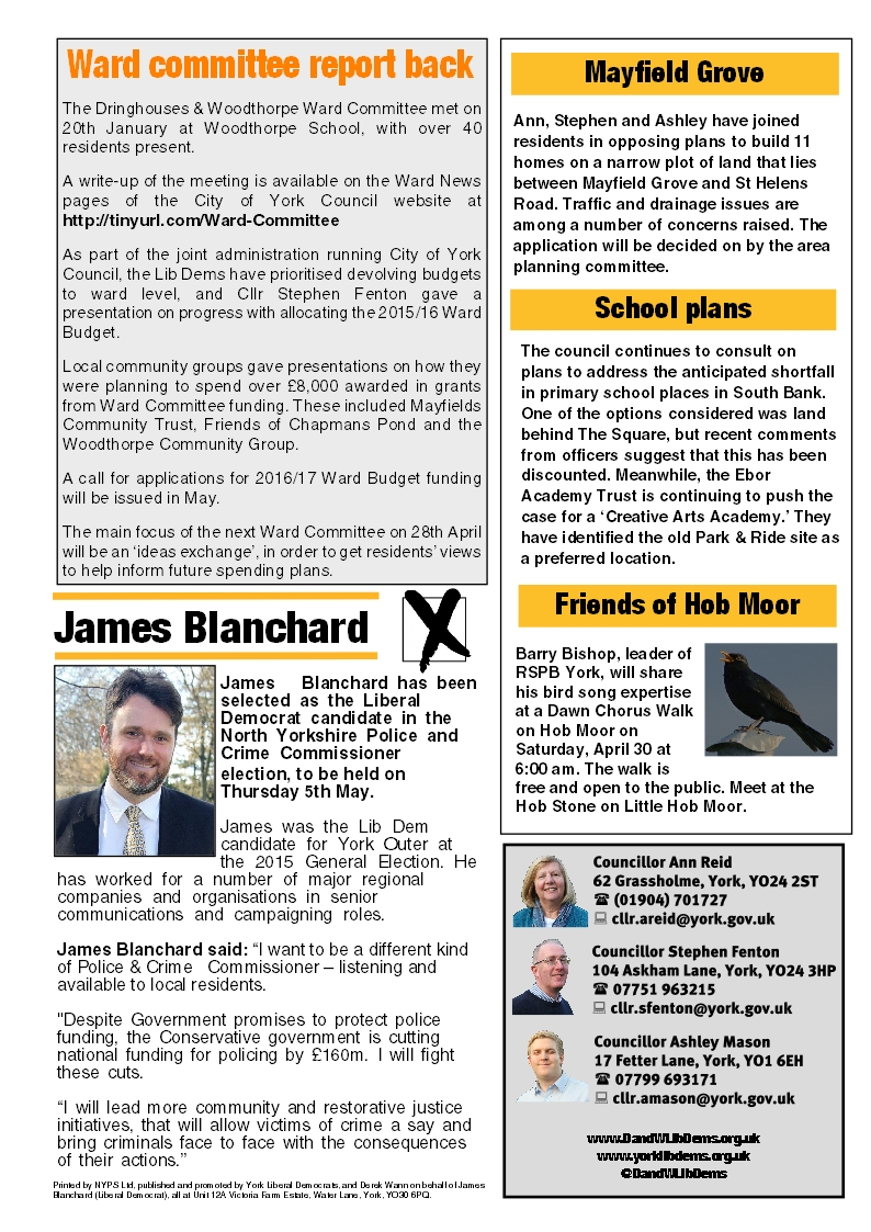 Tadcaster Road Focus page 3