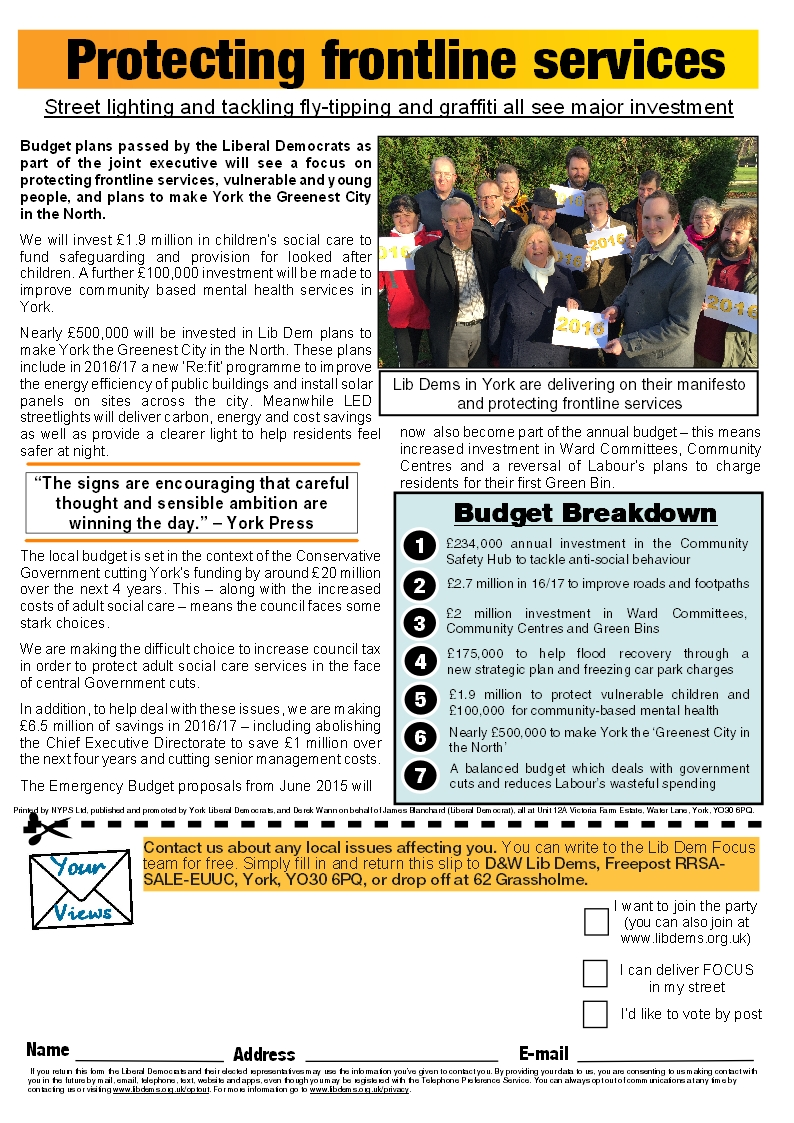 Tadcaster Road Focus page 4