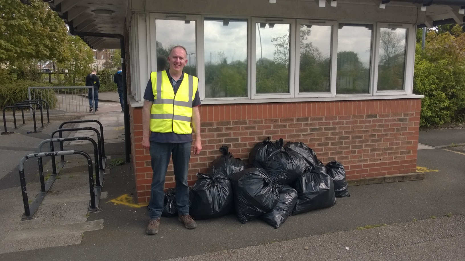 Previous litter picks in the area near the College have yielded a bumper haul of litter