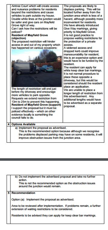 Committee report page 2