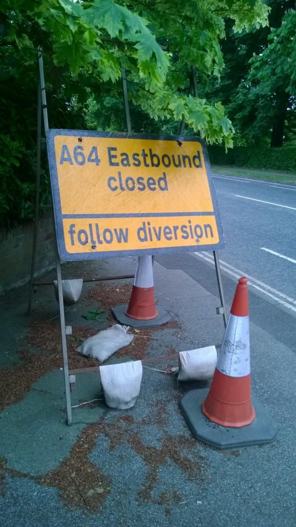 A64 diversion sign