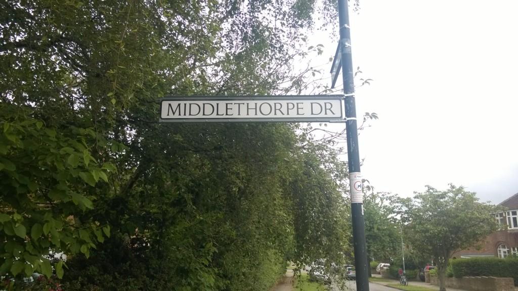 Shiny new street sign