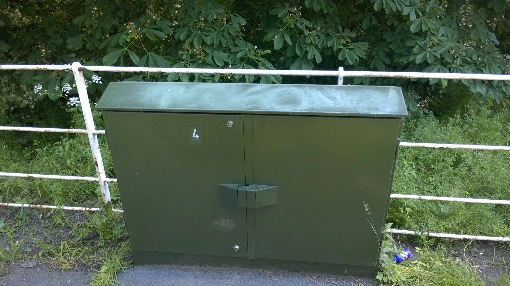 Freshly painted BT cabinet