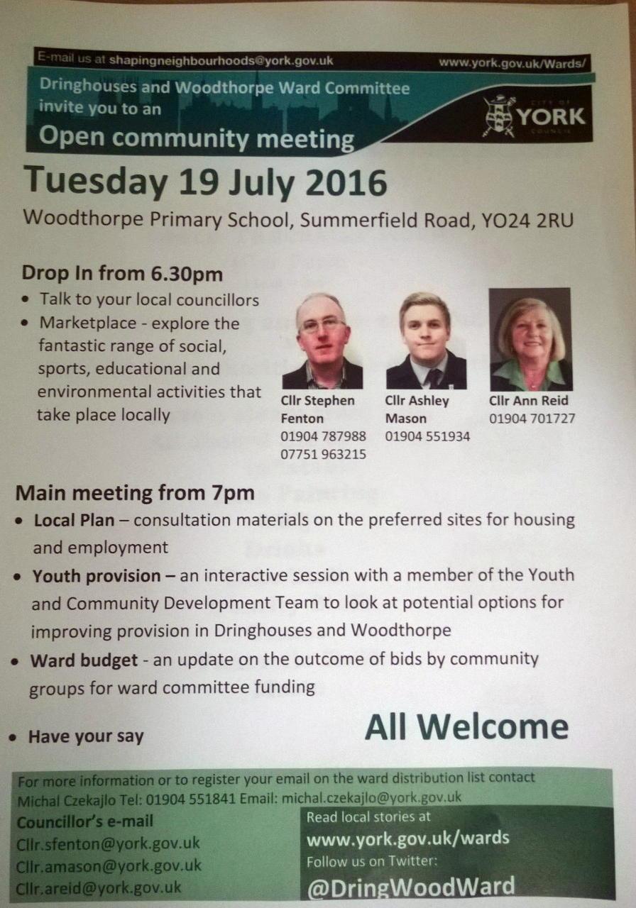 Ward Committee flyer