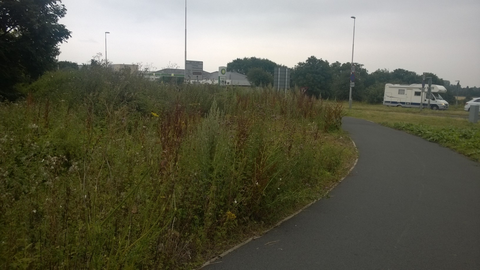 Exit from the Park & Ride site
