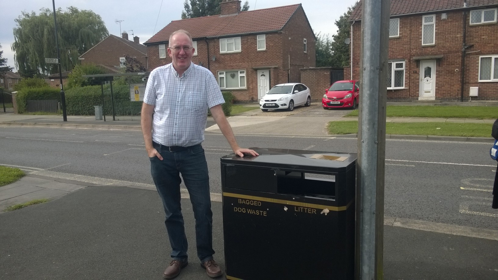 New bin at junction of Chaloners Road and Sandcroft Road