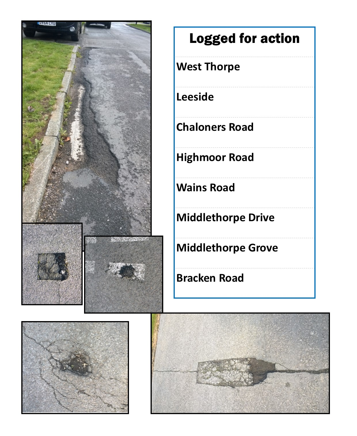Pothole montage