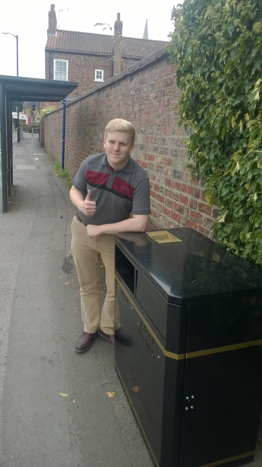 New bin at St Helens Road bus stop