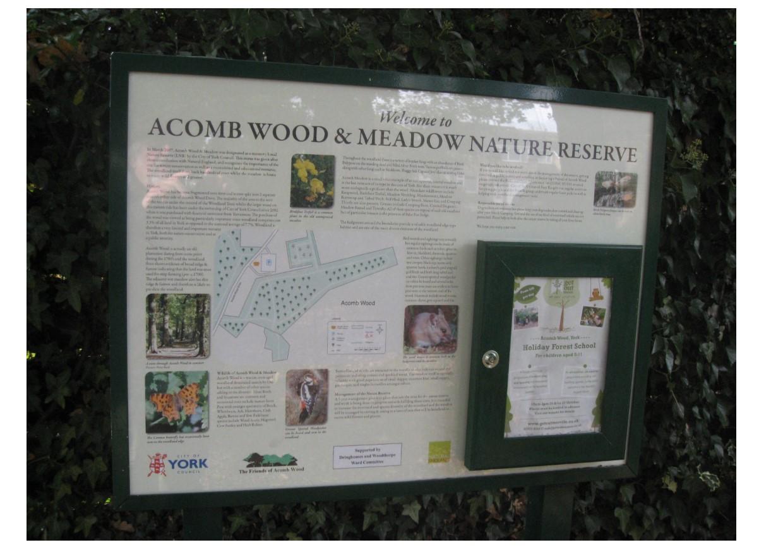Acomb Wood noticeboard